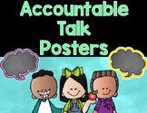 Accountable Talk Stems Speech Bubble Posters