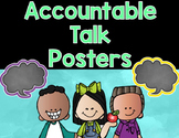 Accountable Talk Stems Speech Bubble Posters