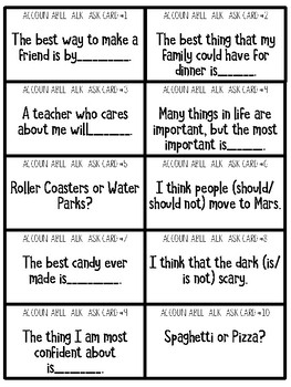 Accountable Talk Stems and Conversation Task Cards