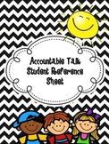 Accountable Talk Student Reference Sheet