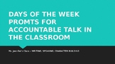 Accountable Talk:  Supporting Academic Discussion in Your