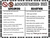 Accountable Talk T-Chart (Speaker VS Listener)