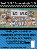 Accountable Talk {Text Talk - Talking Stems} Class Display