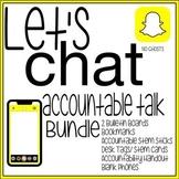 "Accountable Talk STEMS Literacy Bundle ""Let's Chat"" Snapch"