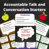 Accountable Talk and Conversation Starters Student Cards and Posters