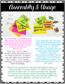 Accountable Talk & Engagement Kit: Higher Order Thinking & Total Participation