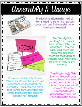 Accountable Talk-Accountable Talk Stems-Student Engagement