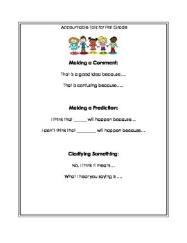 Accountable Talk for First Grade