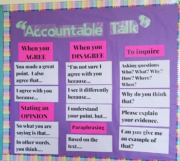 Accountable Talk for your Bulletin Board Posters