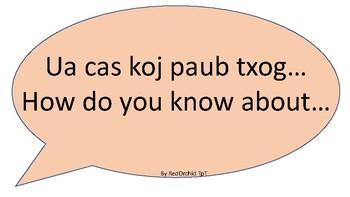 Accountable Talk in Hmong sentence frame