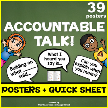 35 Accountable Talk Posters For Any Classroom - Print Ready!