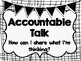 Accountable Talk or Purposeful Talk Posters