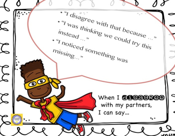 Super Accountable Talk --Supports Rigor in Literacy and Math-- Superhero Style!