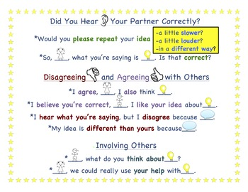 Accountable Talks Poster for Group and Partner Work
