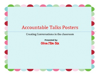Accountable Talks Posters