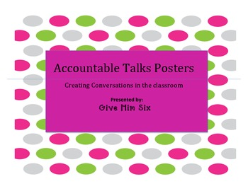 Accountable Talks Posters Lime Green and Hot Pink