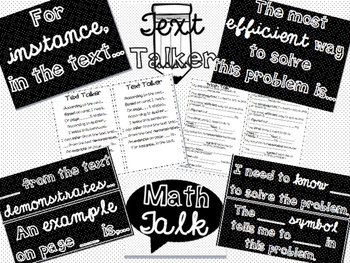 Accountable Text-Based Writing and Speaking Posters- Math & ELA {Black & White}