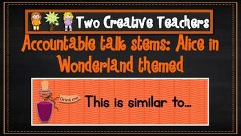 Accountable stems: Alice in Wonderland theme