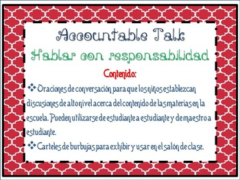 Accountable talk and bubbles -Hablar con responsabilidad