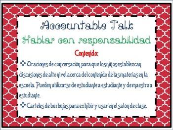 Accountable talk and bubbles -Hablar con responsabilidad