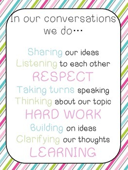 Accountable talk behavior poster