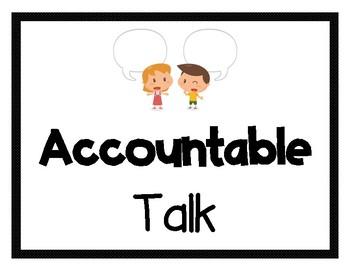 Accountable talk bubbles