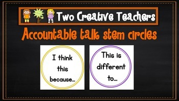 Accountable talk stem circles