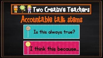 Accountable talk stems