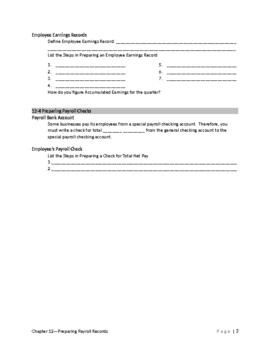 Accounting 1-Guided Reading-Chapter 12