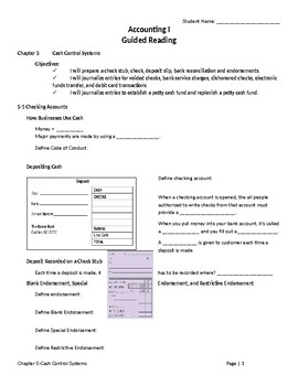 Accounting 1-Guided Reading-Chapter 5