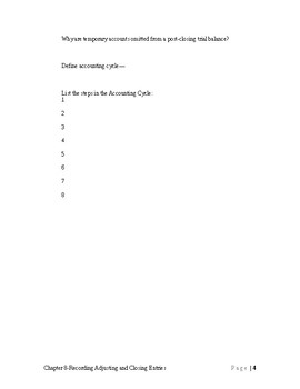 Accounting 1-Guided Reading-Chapter 8