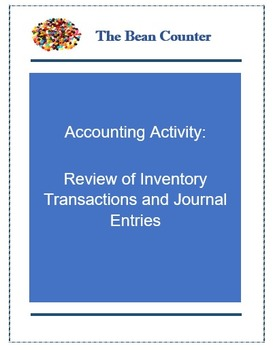Accounting Activity - Review of Inventory Transactions and Journal Entries