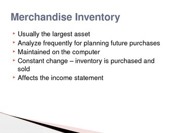 Accounting - Advanced Inventory