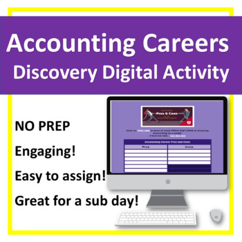 Accounting Career Study NO PREP!  Digital Activity
