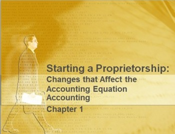 Accounting Chapter 1: Accounting Equation Materials