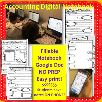 Accounting-Finance-Business Digital Notebook OR Print and Teach!