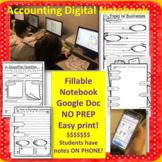 Accounting Finance Business Digital Notebook OR Print and Teach!