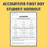 Accounting First Day Student Handout
