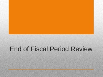 Accounting I - End of Period Review