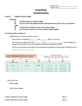 Accounting I-Guided Reading-Chapter 4