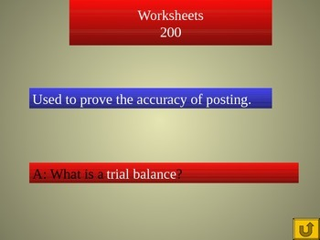 Accounting Jeopardy PowerPoint Game, Chapters 5-8