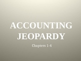 Accounting Jeopardy PowerPoint Game, Chapters 1-4