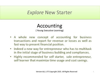 Accounting for Business, Entrepreneur, Self-Starter, and Teacher