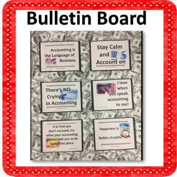 Accounting Poster Set Room Decor