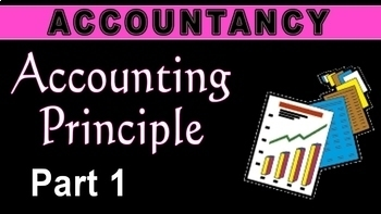 Accounting Principles   Entity   Going Concern Concept   GAAP