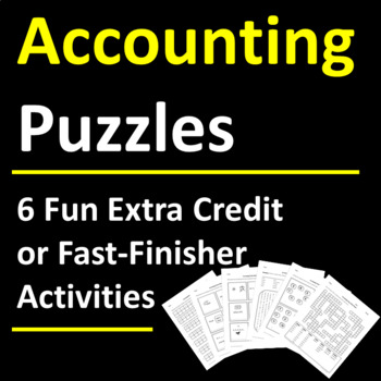 Accounting Puzzle Activities