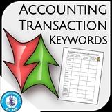 Accounting Transaction Keywords