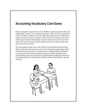 Accounting Vocabulary Card Game