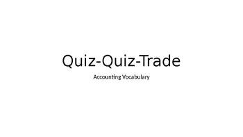 Accounting Vocabulary Quiz Quiz Trade
