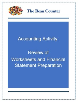 Accounting Worksheet and Financial Statement Preparation R